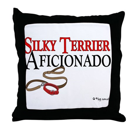 Silky Terrier Aficionado Throw Pillow