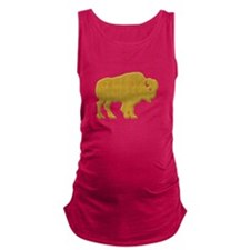 Bison silhouette Maternity Tank Top