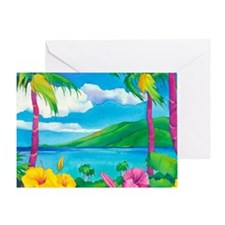 Sunny MauiMouse Greeting Card