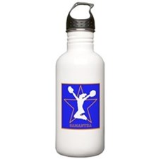 Cheerleader in orange and blue Water Bottle