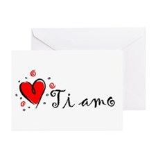 """I Love You"" [Italian] Greeting Cards (Package of"