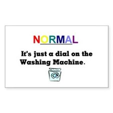 Normal Anybody?? Rectangle Bumper Stickers