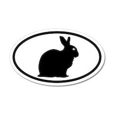 Bunny Rabbit 35x21 Oval Wall Peel