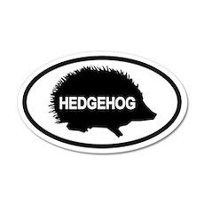 Hedgehog35x21 Oval Wall Peel
