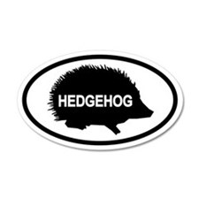 Hedgehog35x21 Oval Wall Peel