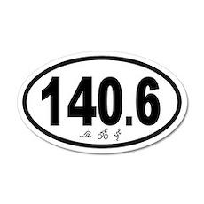 140.6 Triathlon 35x21 Oval Wall Peel