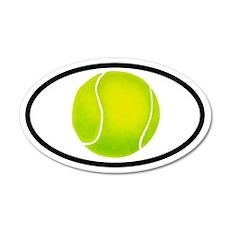 Tennis Ball 35x21 Oval Wall Peel