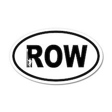 Row Oarsman 35x21 Oval Wall Peel