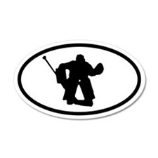 Hockey Goalie 35x21 Oval Wall Peel