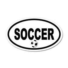 Soccer Ball 35x21 Oval Wall Peel