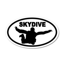 Skydiver Free Fall 35x21 Oval Wall Peel