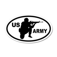US ARMY Soldier 20x12 Oval Wall Peel