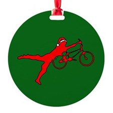 BMX Christmas Ornament (Round)