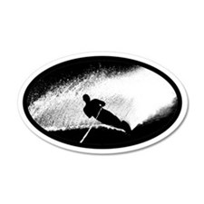 Water Skiing 35x21 Oval Wall Peel