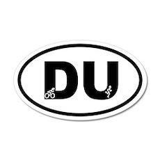 Duathlon Biker Runner 35x21 Oval Wall Peel