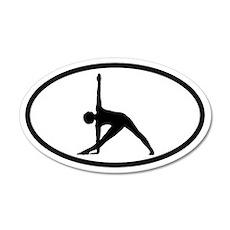 Yoga Half-Moon 20x12 Oval Wall Peel