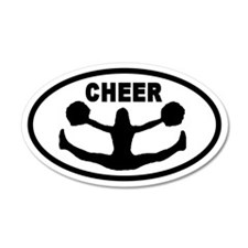 Cheerleader CHEER 20x12 Oval Wall Peel