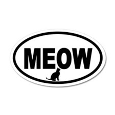 Cat Meow 20x12 Oval Wall Peel