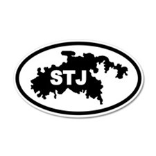 St. John's STJ Map 20x12 Oval Wall Peel