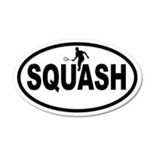 Squash Player 35x21 Oval Wall Peel