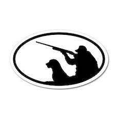 Hunter and Dog 35x21 Oval Wall Peel