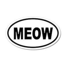 Cat MEOW 20x12 Oval Wall Peel