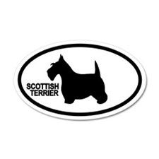 Scottish Terrier 35x21 Oval Wall Peel