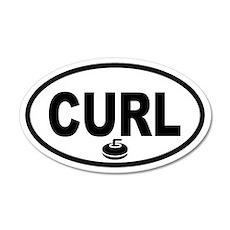 Curling Stone 35x21 Oval Wall Peel