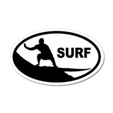 Surfer 35x21 Oval Wall Peel