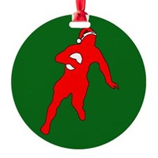 Rugby Christmas Ornament (Round)