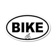Cycling Biker 35x21 Oval Wall Peel