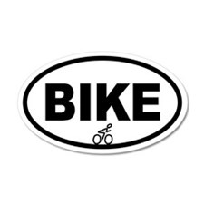 Cycling Biker 20x12 Oval Wall Peel