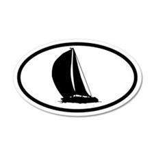 Sailboat 35x21 Oval Wall Peel