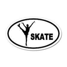 Figure Skater 35x21 Oval Wall Peel