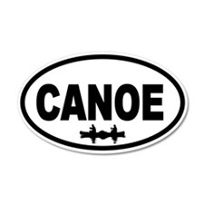 Canoe 20x12 Oval Wall Peel