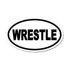 Basic Wrestling 35x21 Oval Wall Peel