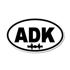 Adirondack ADK Canoe 20x12 Oval Wall Peel