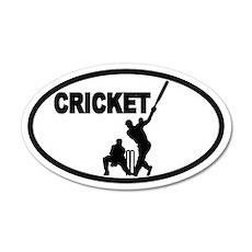 Cricket Batsman 35x21 Oval Wall Peel