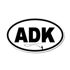 Adirondack ADK Fly Fisherman 20x12 Oval Wall Peel