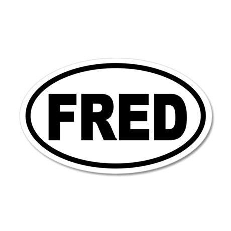 Fred Thompson '08 20x12 Oval Wall Peel