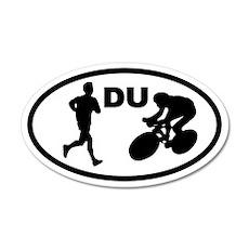Duathlon Duathletes 35x21 Oval Wall Peel