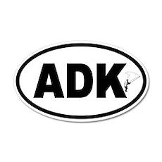Adirondack ADK Fly Fishing 35x21 Oval Wall Peel