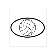 Volleyball Ball Oval Sticker