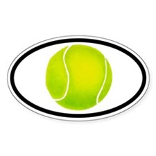 Tennis Ball Oval Decal