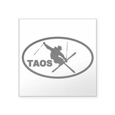 Taos Skier Oval Sticker