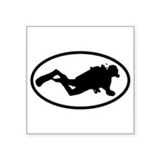 Scuba Diver Oval Sticker