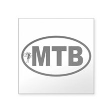 Mountain Biking Oval Sticker