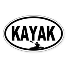 Kayaker Oval Decal