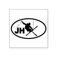 Jackson Hole JH Skier Oval Sticker