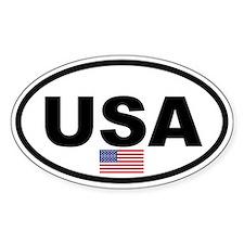 Basic USA Flag Oval Decal